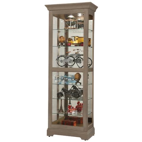 Howard Miller Martindale VI Aged Grey Solid Wood Curio Cabinet