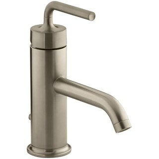 Kohler K-14402-4A Purist Single Hole Bathroom Faucet - Free Metal Pop-Up Drain Assembly with purchase