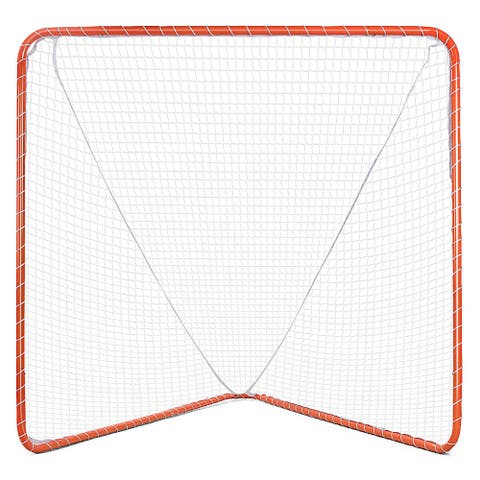 Gymax 6'x6' Portable Lacrosse Practice Net Stylish Hockey Goal Net for