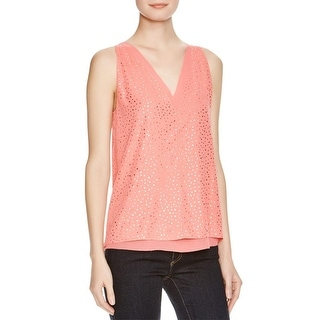 Cooper & Ella Womens Tank Top Chiffon Metallic
