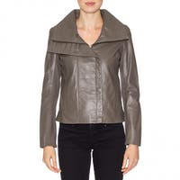 Faux Leather Jacket By Famous Maker