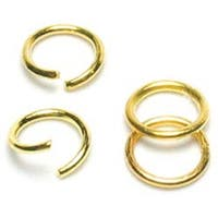 Gold Jump Rings 6Mm - Jewelry Basics Metal Findings 300/Pkg