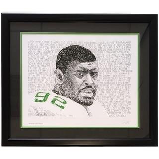 Reggie White Framed 16x20 Philadelphia Eagles Word Art Photo