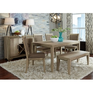 Link to The Gray Barn Abbey Field 6-piece Rectangular Table Set with Bench Similar Items in Dining Room & Bar Furniture