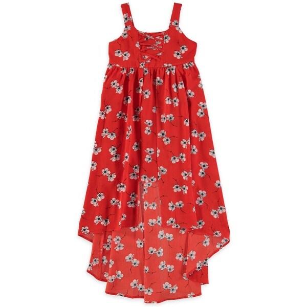 Shop My Michelle Girls 7 16 Tie Up Hi Low Floral Dress