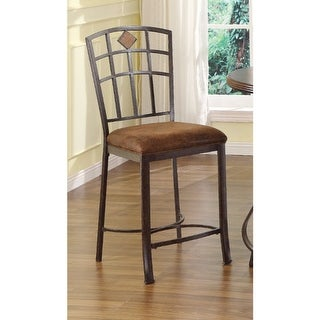 Counter Height Chair, Brown, Set of 2