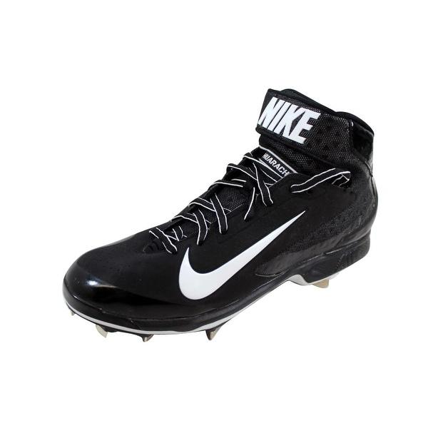 369586c7f9055 Shop Nike Men s Air Huarache Pro Mid Metal Black White 599235-001 ...