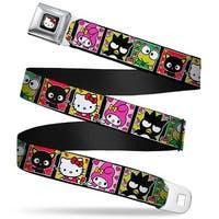 Hello Kitty W Red Bow Full Color Black Sanrio Character Blocks Hello Kitty Seatbelt Belt