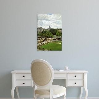 Easy Art Prints Claude Monet's 'Garden of the Princess, Louvre' Premium Canvas Art