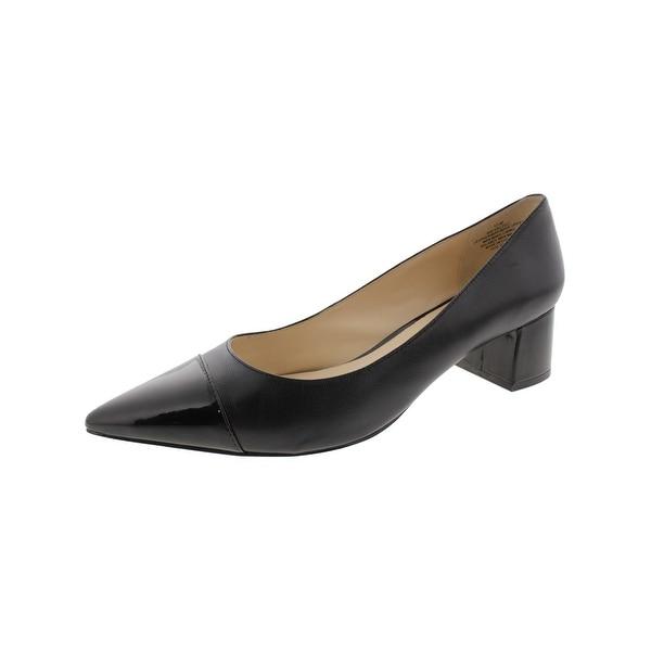 Nine West Womens Dalzell Pumps Leather Pointed Toe - 8.5 medium (b,m)