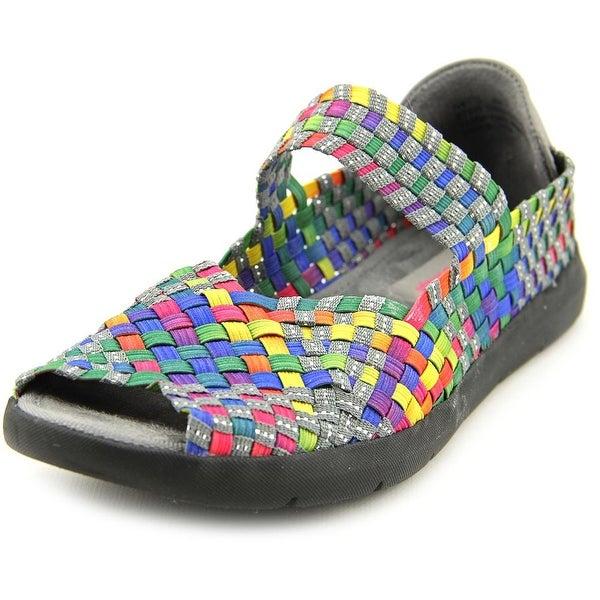 Baretraps Ivette Women  Peep-Toe Canvas Multi Color Mary Janes