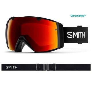 Smith Optics 2017/18 I/O Goggle - Black Frame, ChromaPop Sun Red Mirror, ChromaPop Storm Rose Flash Lens