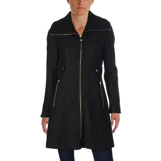 Via Spiga Womens Coat Wool Knit Collar