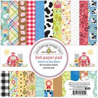 """Doodlebug Double-Sided Paper Pad 6""""X6"""" 24/Pkg-Down On The Farm, 12 Designs/2 Each"""