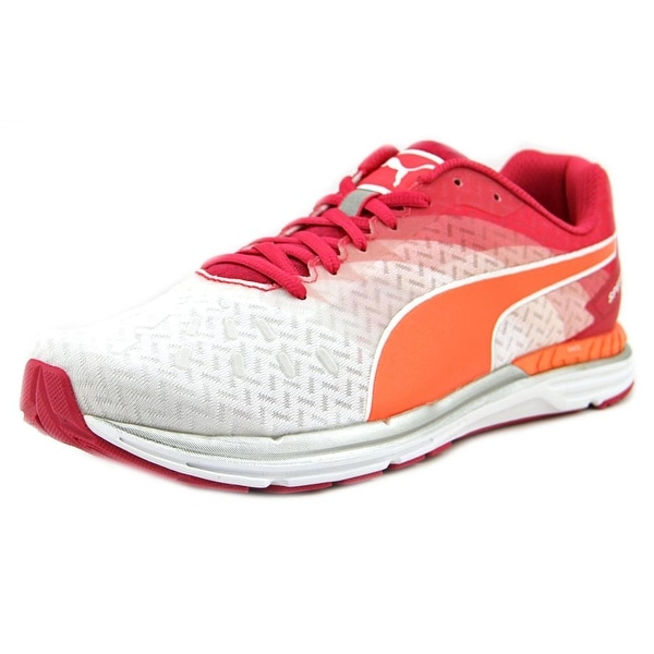 Puma Speed 300 Ignite Women White/Rose Red/ Fluo Peach Running Shoes