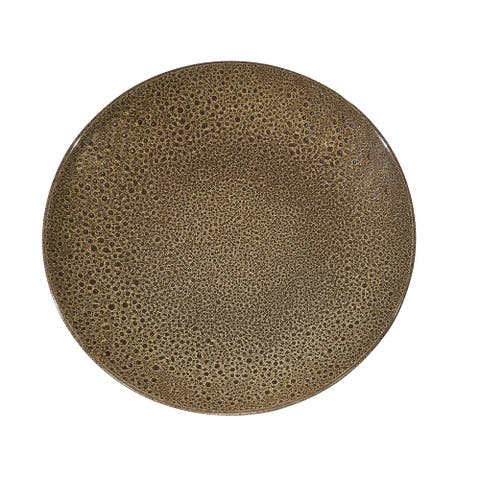 Red Vanilla Art Brown Coupe Service Platter