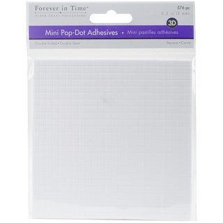 "Multicraft 3D Pop Dots Dual-Adhesive Micro Foam Adhesives-White Square, .2"" 576/Pkg"