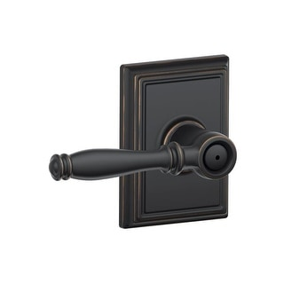 Schlage F40-BIR-ADD  Birmingham Privacy Door Lever Set with Decorative Addison Trim