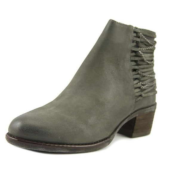 Steve Madden Chily Women Round Toe Leather Gray Bootie
