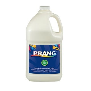 Prang Non-Toxic Ready-to-Use Liquid Tempera Paint, 1 gal Squeeze Bottle, White