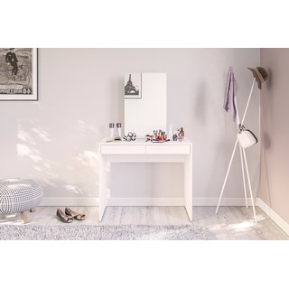 Link to Polifurniture Conquista Vanity/Desk, White Similar Items in Bedroom Furniture