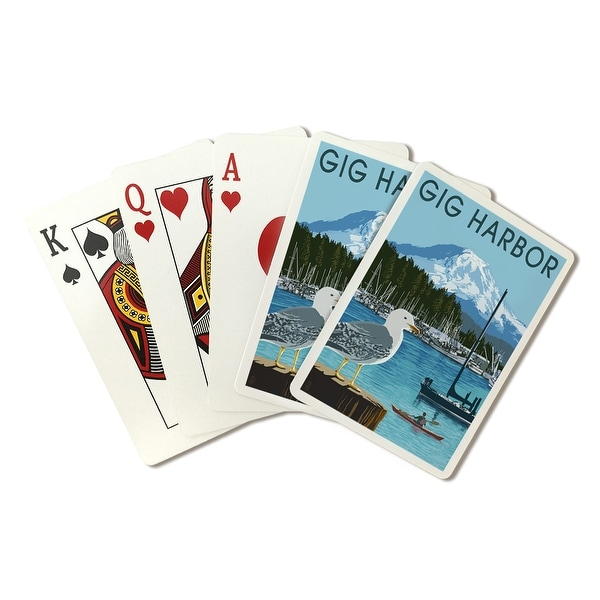 Gig Harbor, WA - Day Scene - LP Artwork (Poker Playing Cards Deck)