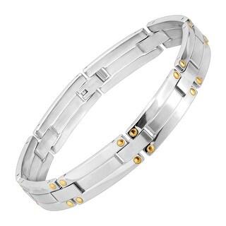 Dolan Bullock Men's Link Bracelet in Stainless Steel & 18K Gold - Two-tone