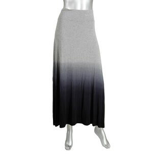 Kensie Womens Jersey Heathered Maxi Skirt