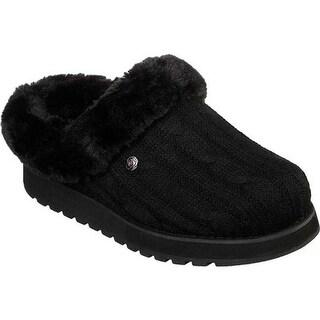 Skechers Women's BOBS Keepsakes Ice Angel Clog Slipper Black/Black