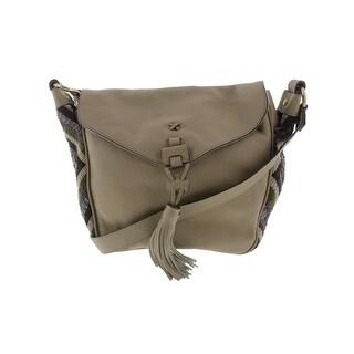 Nanette Lepore Womens Aspen I Saddle Handbag Leather Adjustable - Medium