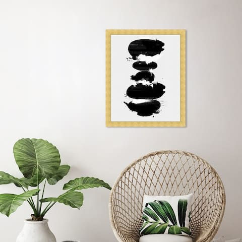 Oliver Gal 'Perfect Balance Noir' Abstract Wall Art Framed Print Paint - Black, White