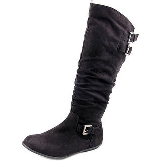 Rampage Cyrene Women Round Toe Synthetic Black Knee High Boot