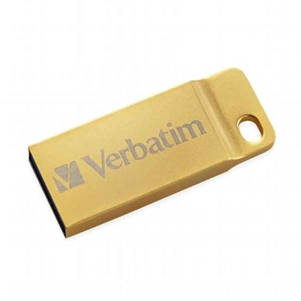 Verbatim 99106 64GB Metal Executive USB 3.0 Flash Drive - Gold