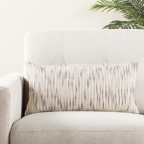 The Curated Nomad Otis Stripe Lumbar Pillow