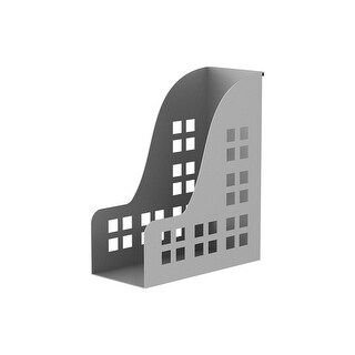 Monoprice Slat Vertical File Tray Desk System - Silver For Monitor Displays & Desk Organization