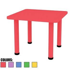 "2xhome - Red - Kids Table - Height Adjustable 18.25 "" 19.25 "" Table"