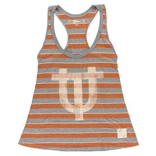 Distant Replays Womens Texas Longhorns College Yarn Dye Tank Top Grey - Grey/Orange
