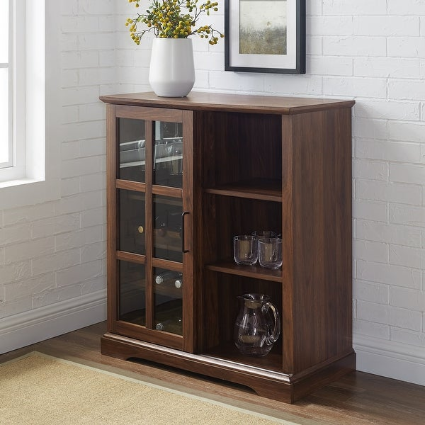 Copper Grove 36-inch Sliding Glass Door Bar Cabinet. Opens flyout.