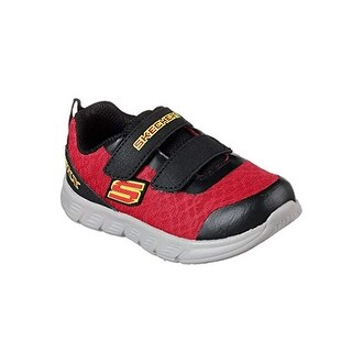 Skechers 95037N Toddlers Comfy Flex - Double Sprint Shoes, Red/Black - 6.5