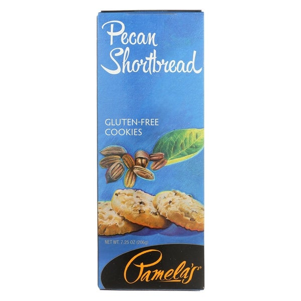 Pamela's Products Pecan Shortbread Cookies - Wheat Free and Gluten Free - Case of 6 - 7.25 oz.