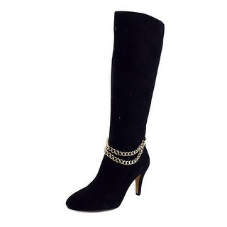 Vince Camuto Valli Women Round Toe Suede Black Knee High Boot