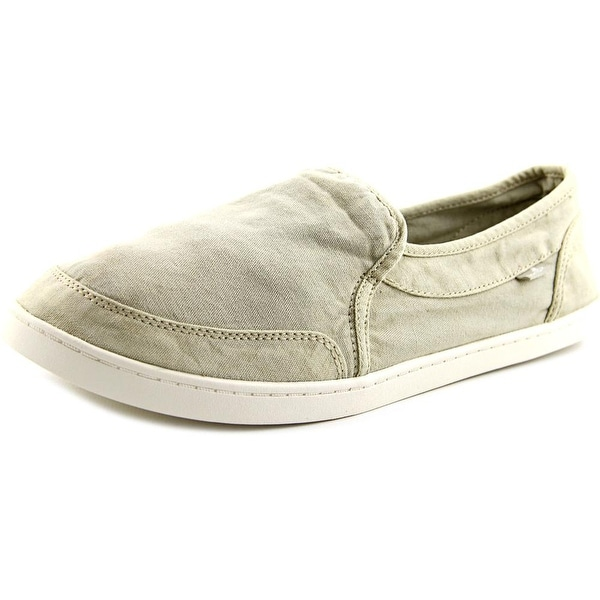 Sanuk Pair o Dice Women Round Toe Canvas Nude Loafer