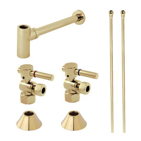 "Kingston Brass CC4310.DLLKB30 Trimscape 30"" Wide Sink Trim Kit with - Polished Brass"
