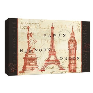 """PTM Images 9-153972  PTM Canvas Collection 8"""" x 10"""" - """"World Tour"""" Giclee Buildings and Landmarks Art Print on Canvas"""