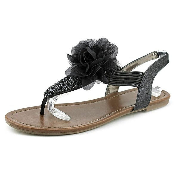 Material Girl Womens Shilo Fabric Split Toe Special Occasion Slingback Sandals