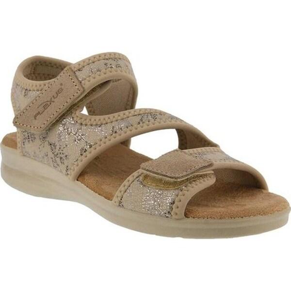 Ankle Strap Sandal Beige Lycra/Suede