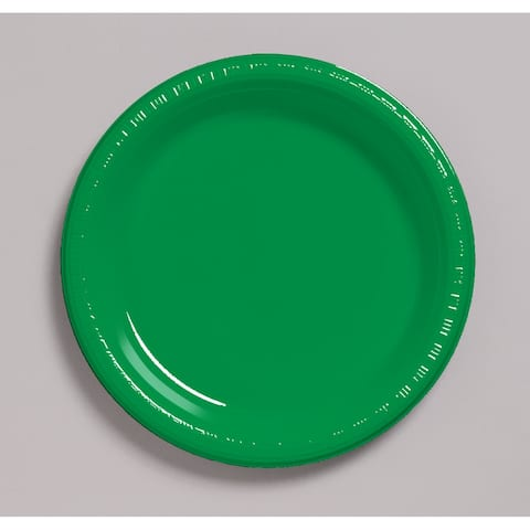 "Touch of Color 20 Count 7"" Heavy Duty Plastic Plates Emerald Green - Multi"