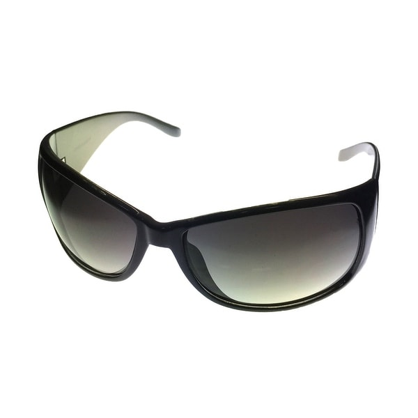 Levi Sunglass Mens Black Rectangle Plastic Sunglass, LS124 1 - Medium