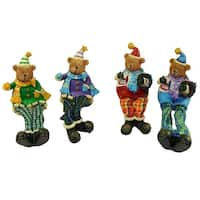 "Club Pack of 144 Plaid Sitting Teddy Bear Christmas Table Top Figures 5.5"" - multi"