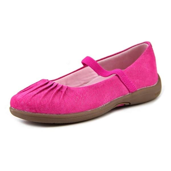 Stride Rite Cassie Youth Round Toe Suede Pink Mary Janes